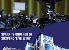SPARK TV ORDERED TO SUSPEND ITS 'LIVE WIRE' PROGRAMME